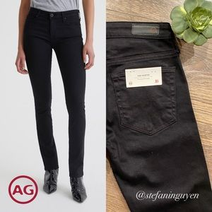 🆕 AG Harper Black Slim Straight Jeans